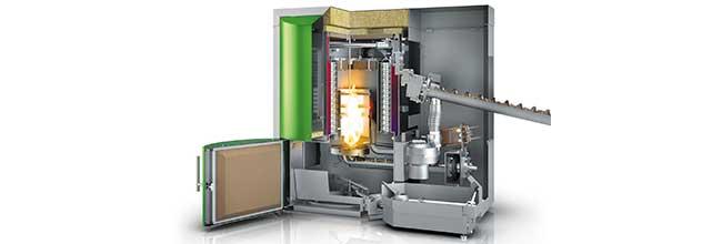 Motorreductores en calderas y estufas de biomasa